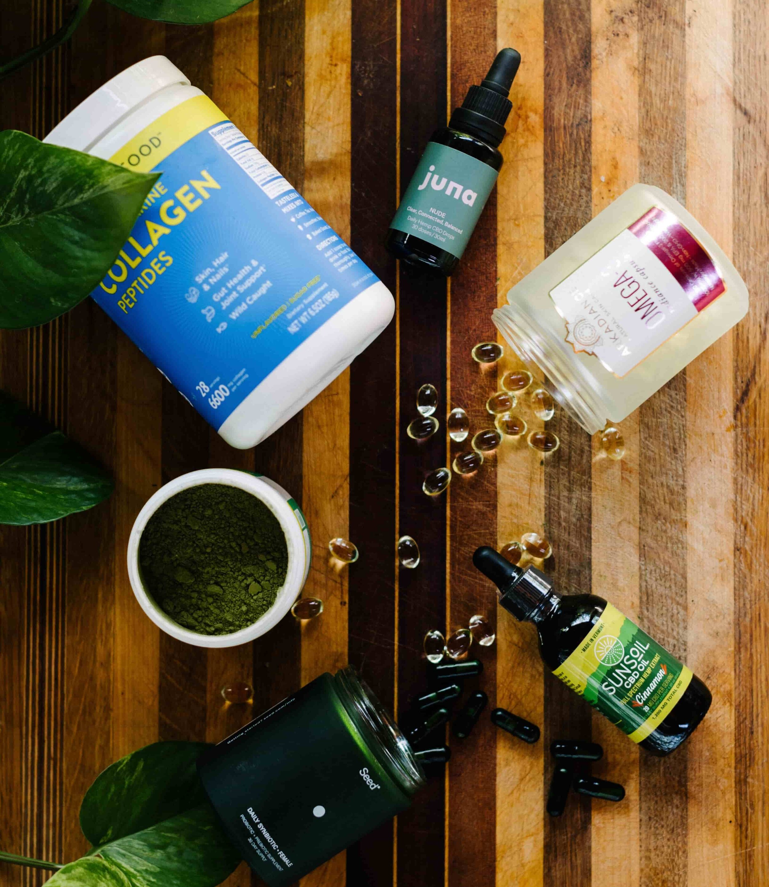 Eco-friendly and sustainable supplements from www.goingzerowaste.com #supplements #sustainable #zerowaste #ecofriendly #vitamins #heatlh #wellness #adaptogens #omega3 #collagen #cbd