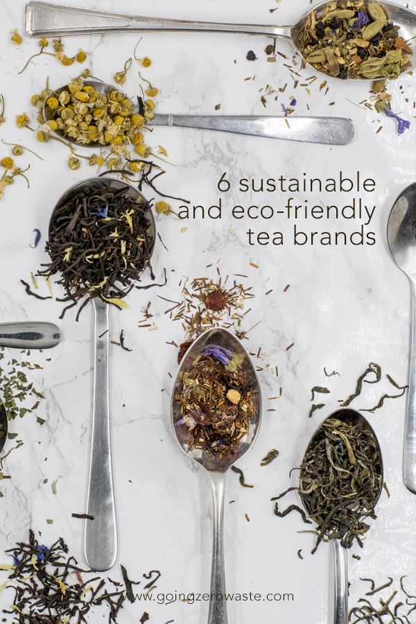 sustainable and ethical tea brands from www.goingzerowaste.com #zerowaste #tea #looseleaf #compostable #ecofriendly #sustainable #ethical