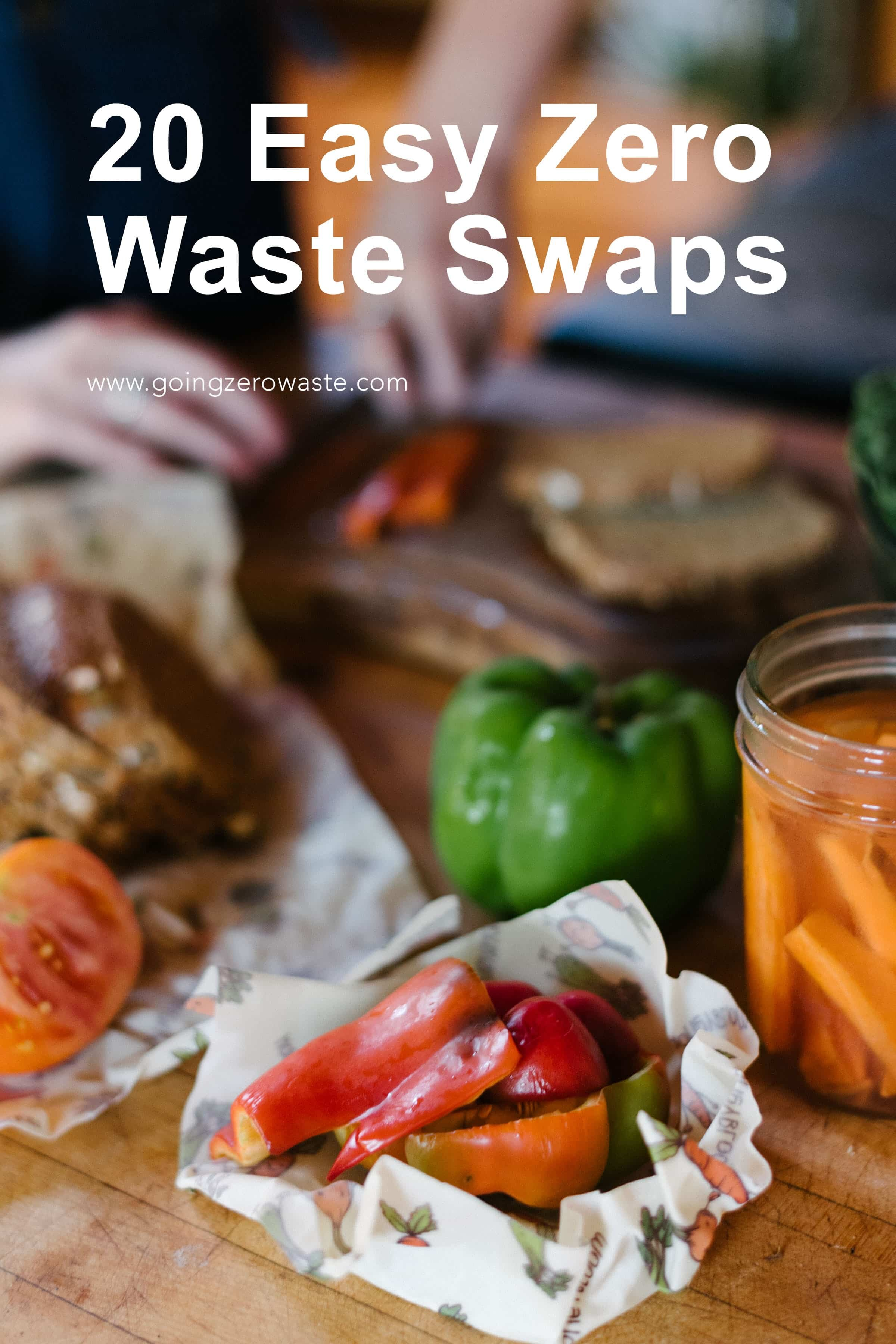 20 easy zero waste swaps from www.goingzerowaste.com #zerowaste #ecofriendly #sustainable #simpleswaps #climatechange #zerowasteswaps