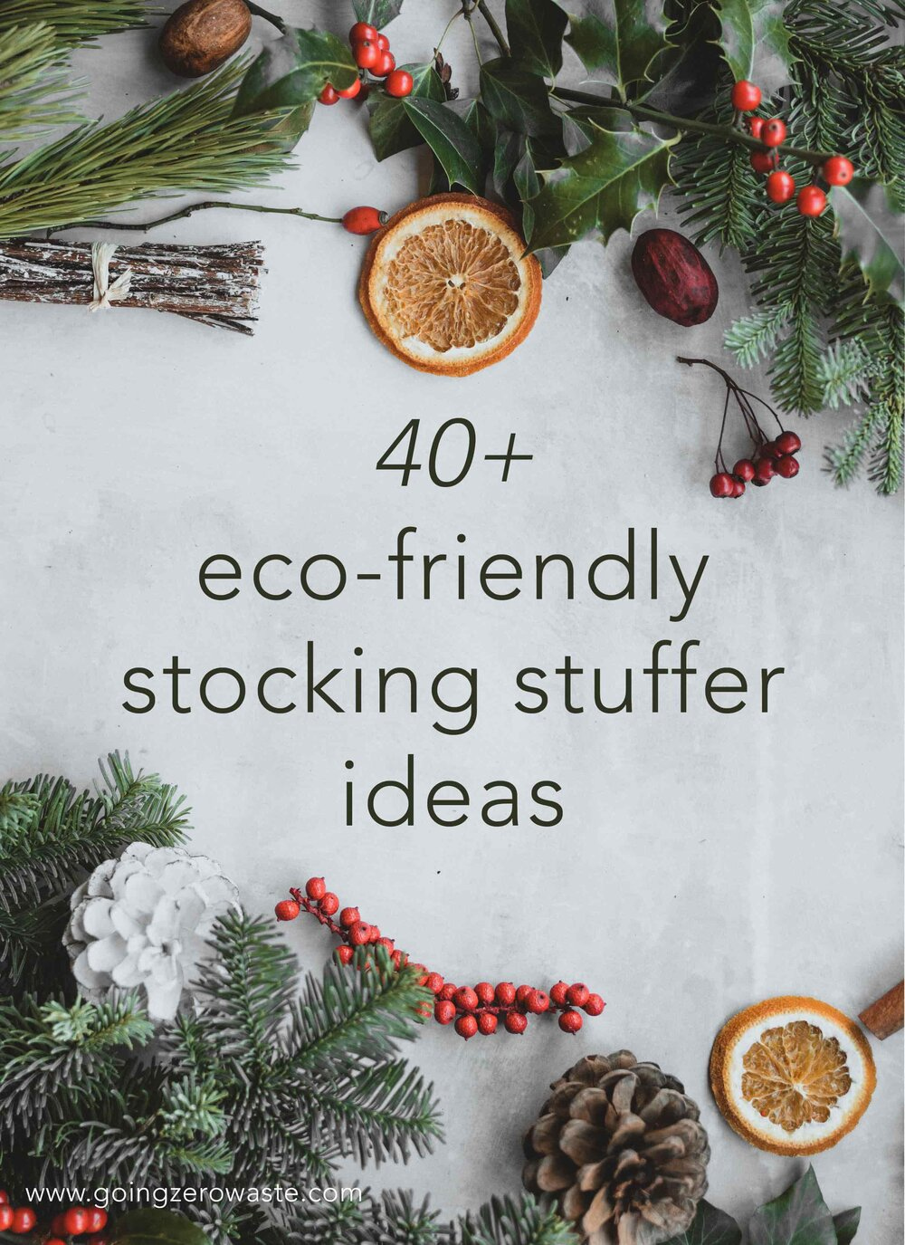 40+ Eco-Friendly Stocking Stuffers from www.goingzerowaste.com #stockingstuffer #stockingfiller #ecofriendly #sustainable #sustainablegifts #zerowaste #eco #ecogfits #giftguide #sustainablestockings