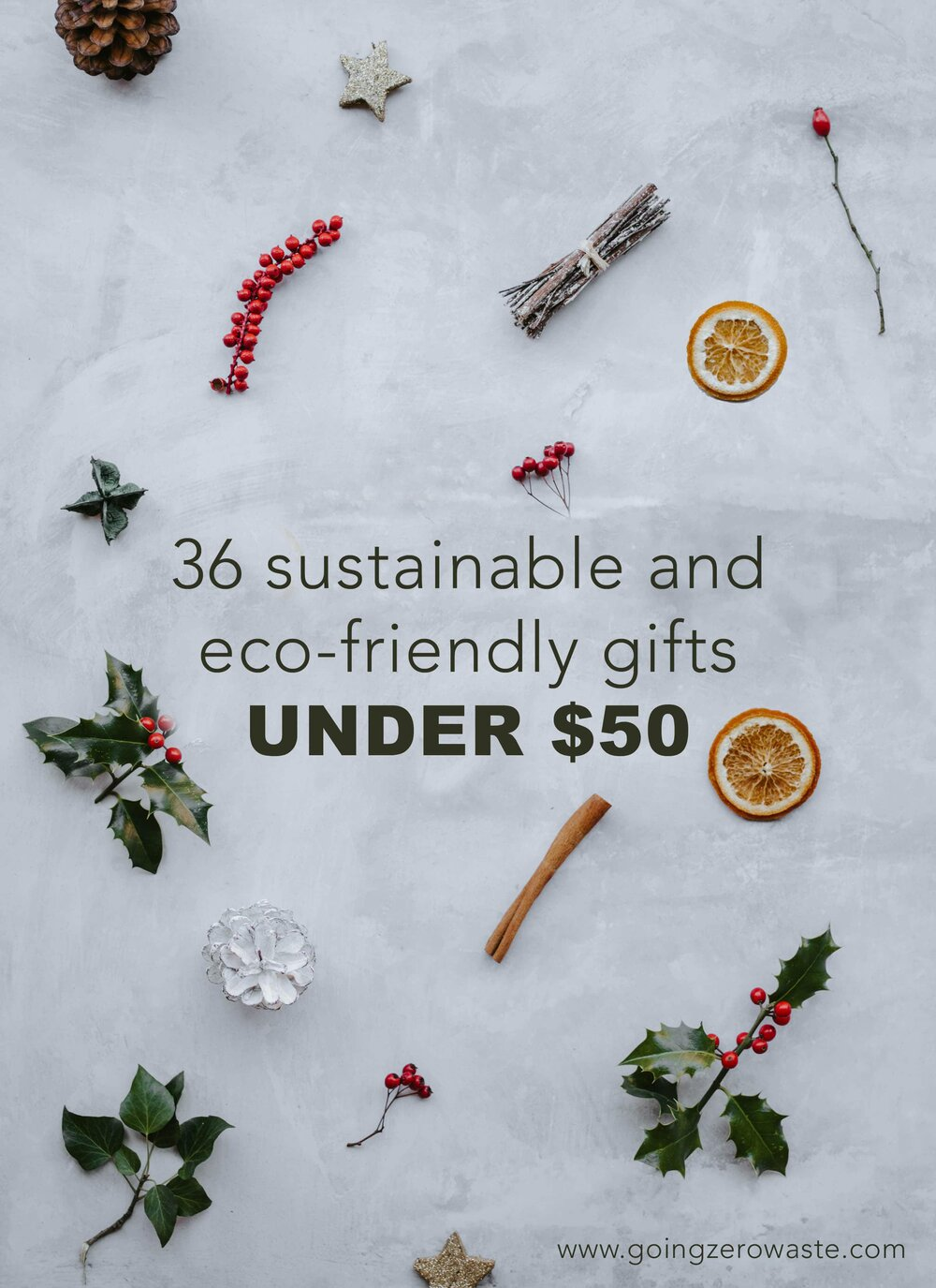 36 sustainable and eco-friendly gifts under $50 from www.goingzerowaste.com #stockingstuffer #stockingfiller #ecofriendly #sustainable #sustainablegifts #zerowaste #eco #ecogfits #giftguide #sustainablestockings