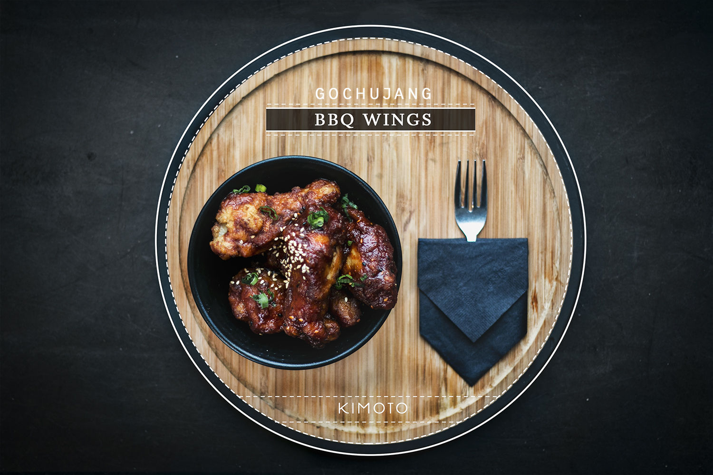 Gochujang BBQ Chicken Wings