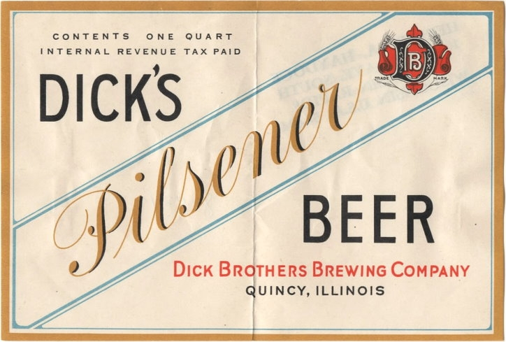Dick Brothers Brewery Pilsener Beer Label.jpg