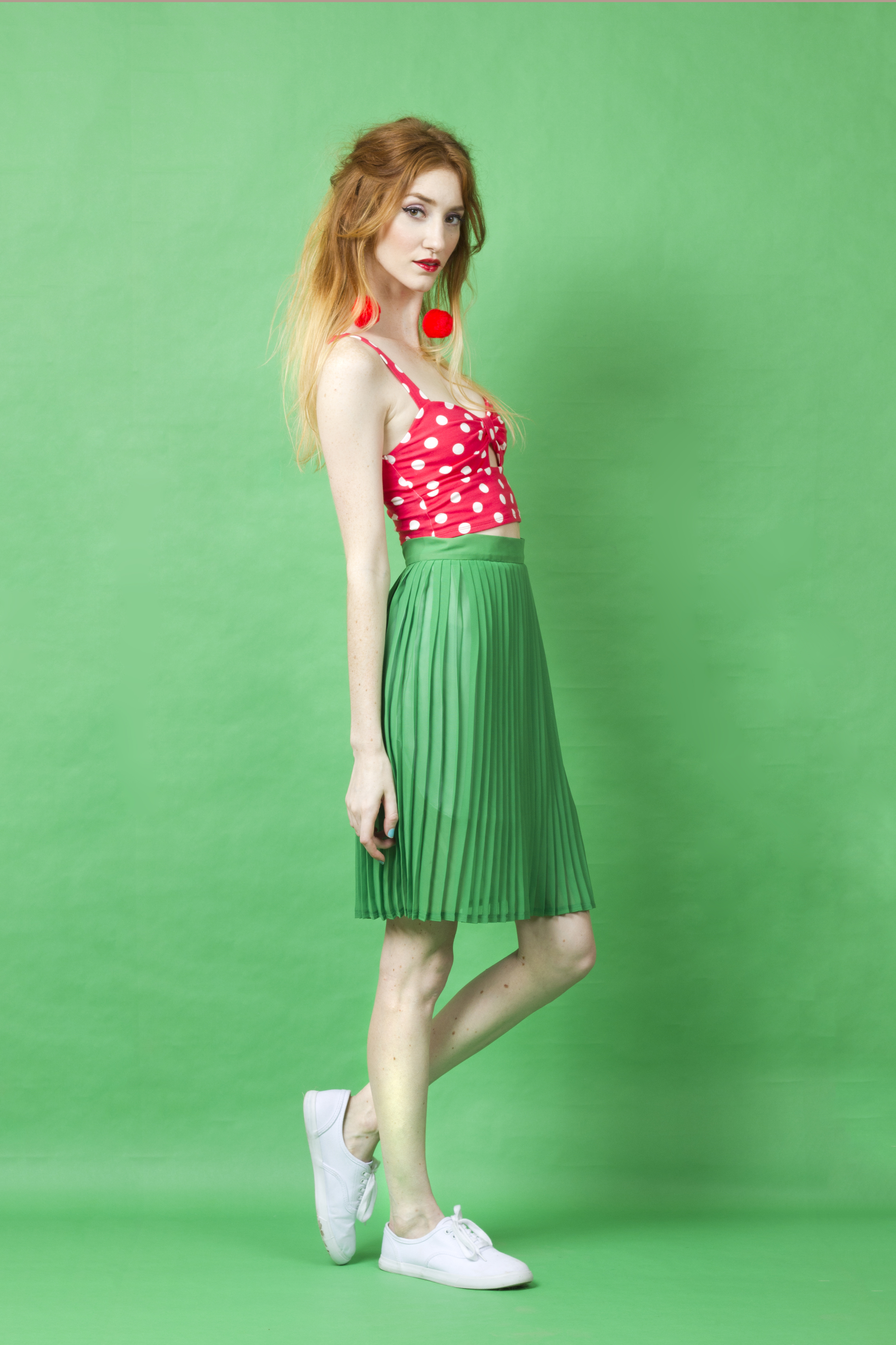 Being a strawberry is fun! All you need are a couple of polka dots to style yourself in red and green (think: Christmas in July)