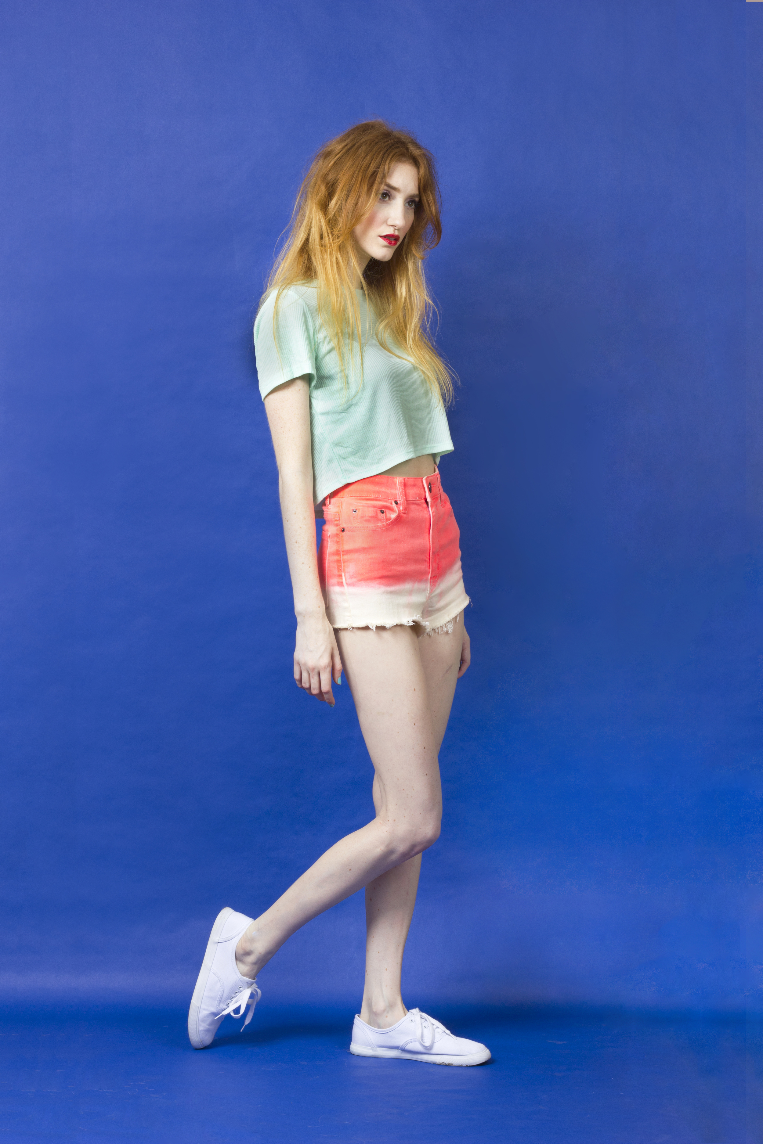 Like the strawberry usethe basic complimentary colors of a watermelon, the Princess Goomba opts for a lighter palette-- using mint green on the top to play up the melon-dip-dyed shorts on bottom!