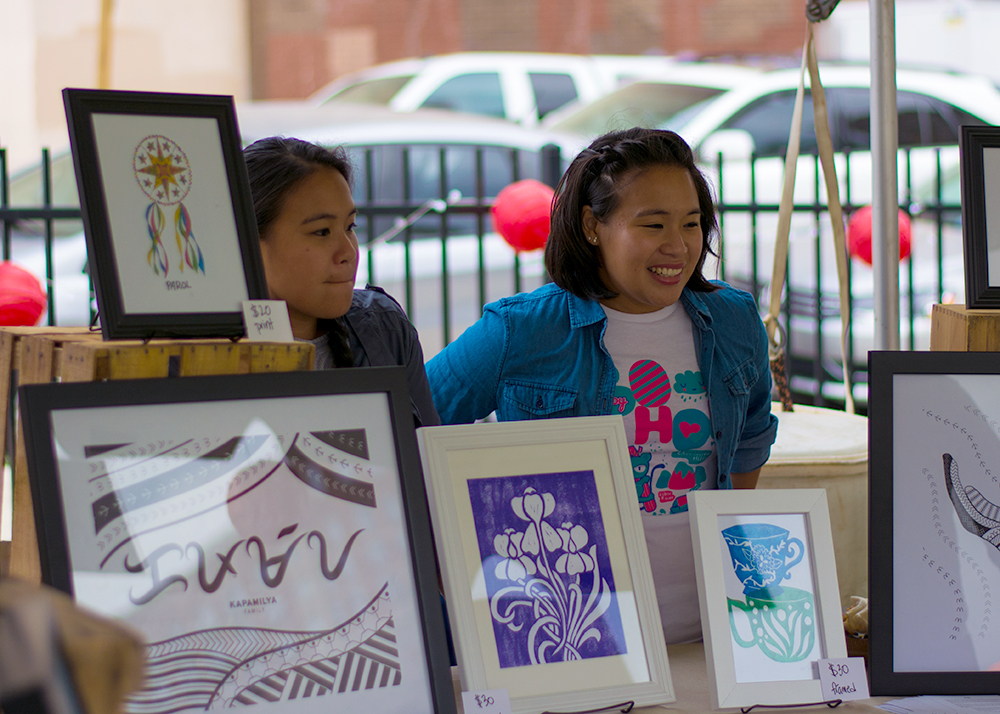 Manning our booth at the Charm City Night Market (Photo by Jasper Samson  @jaspaaah )