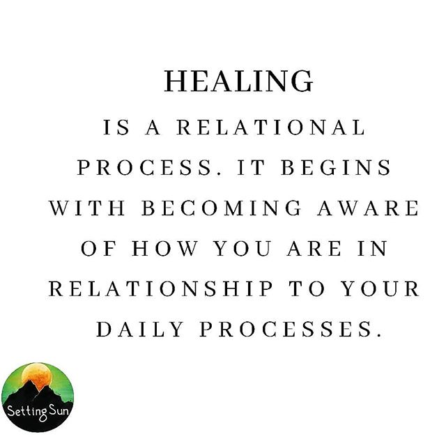 Healing is a relational process. How are you in relationship to your daily processes? To the narrative that you tell yourself? How are you in relationship to you? What are your relationships like? Healing begins with relationship. ✨
