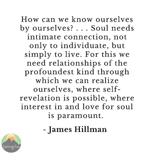 Soul needs intimate connection simply live! ✨ Psyche is intimacy. Psyche is love. Soul is always becoming, but our ego sometimes block psyche from being. Ego sometimes does not trust the deep well of emotion and intuition that psyche offers.