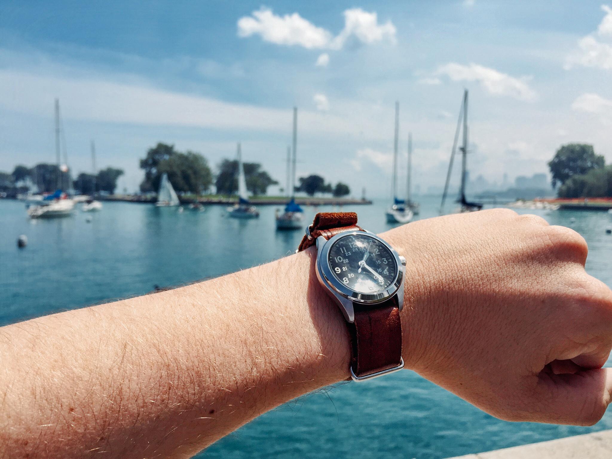 The  Traveling Watch at Montrose Harbor. Photo credit: Chris Scott
