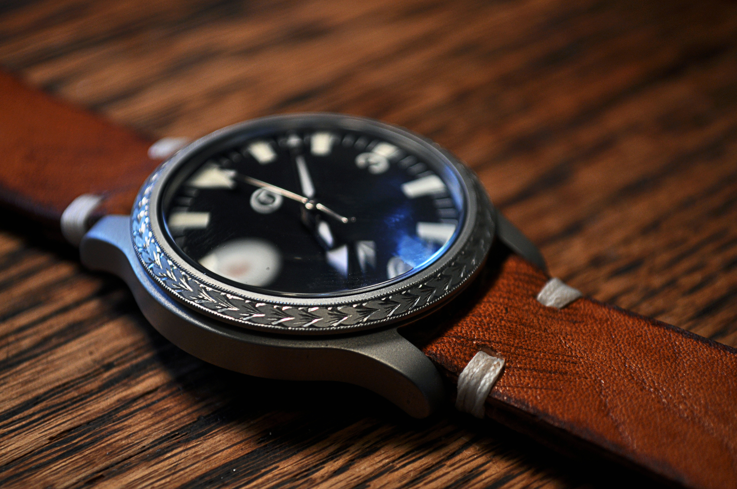 Modified SNK809 with a hand engraved bezel