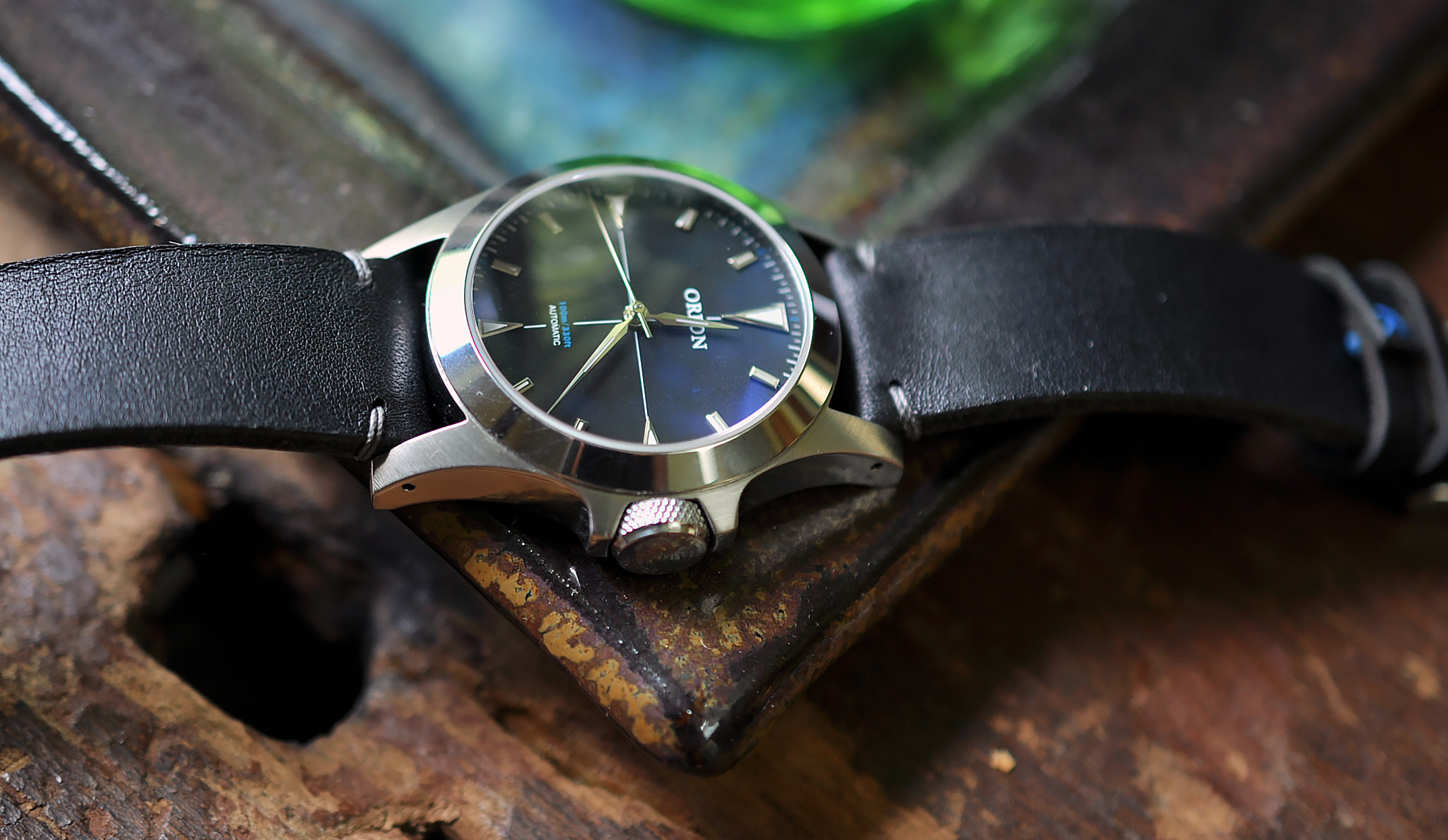 The Orion 1 with a custom strap from Fabnik