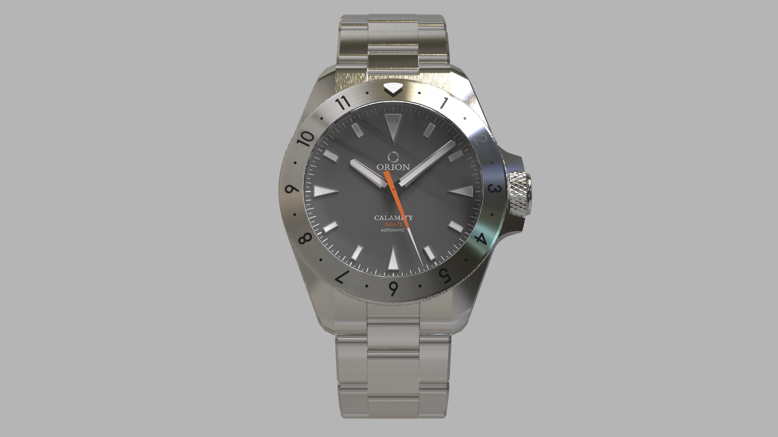12 hour bezel concept with grey dial.
