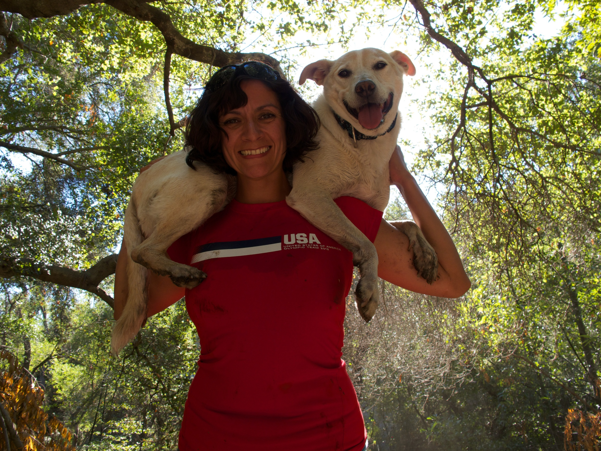 Our pack leader with Charlie The Dog, the foundation for See Spot Run in Los Gatos