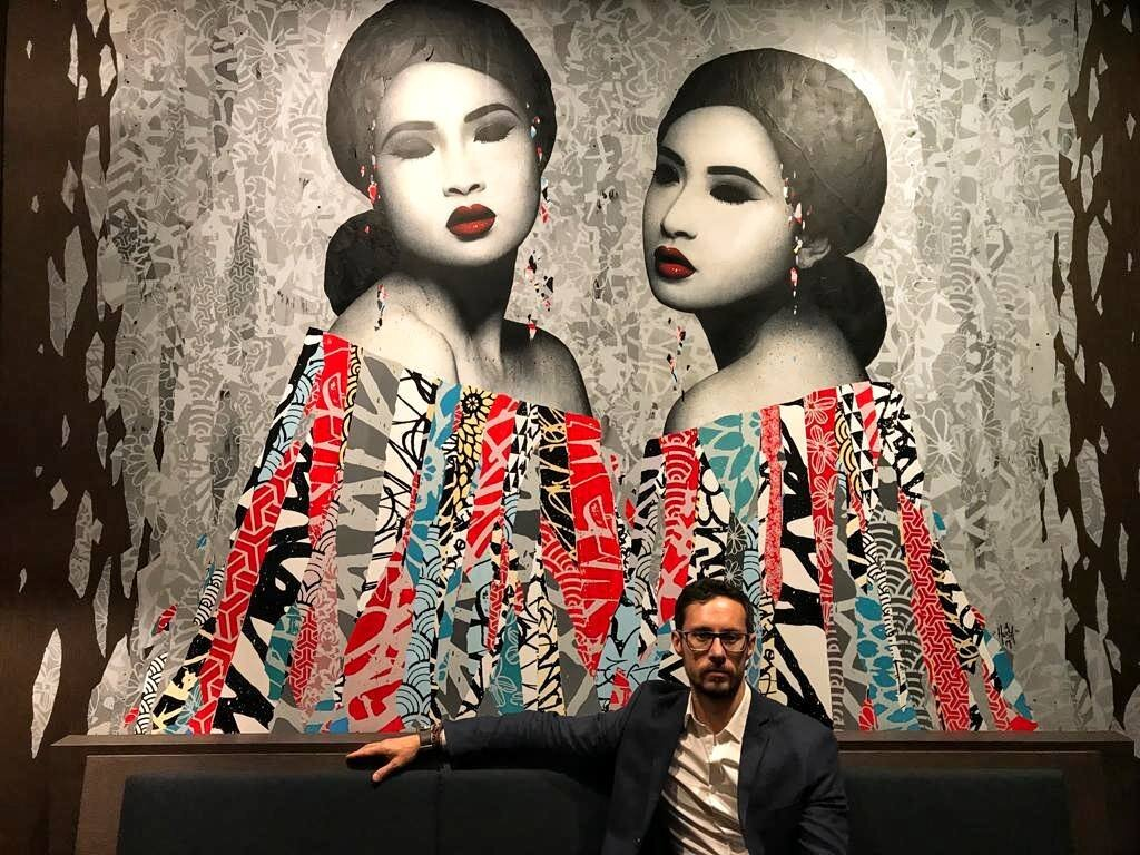 📸 By @emmathomsontravels aboard the Scenic Eclipse. Artwork by Hush.