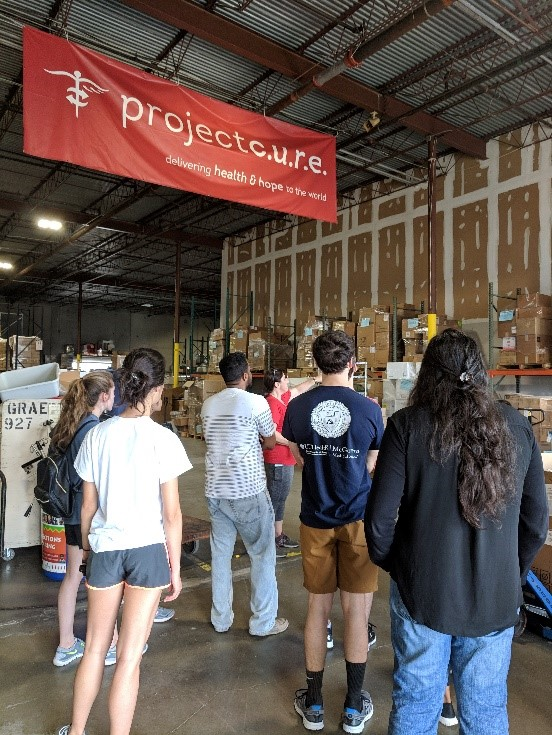 HOMES students at an orientation in the Houston Warehouse