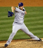 Texas Rangers pitcher C.J. Wilson, an obvious inverted W. (Source: Kathy Willens, AP Photo)