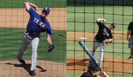 McCarthy and Prestridge at peak elbow height just before elbow extension.