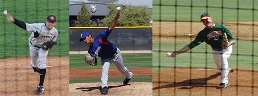 From L to R: Stephen Strasburg, Martin Perez, Adam Spinn.
