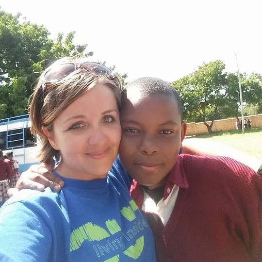 Stephanie and Rukia meet for the first time in Kenya.