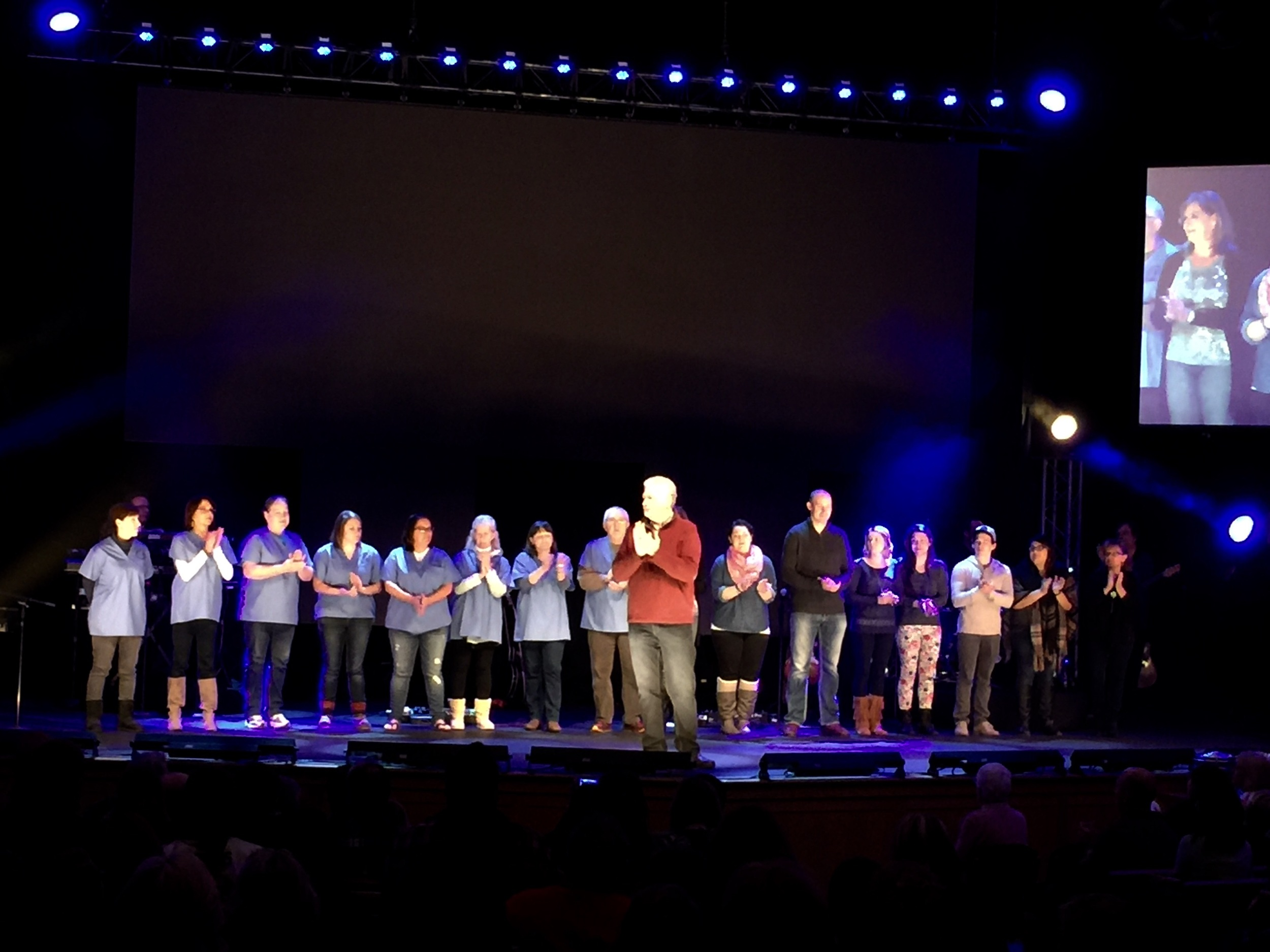 The team was commissioned, blessed, and prayed over at Fox River (Waukesha campus) on Sunday.