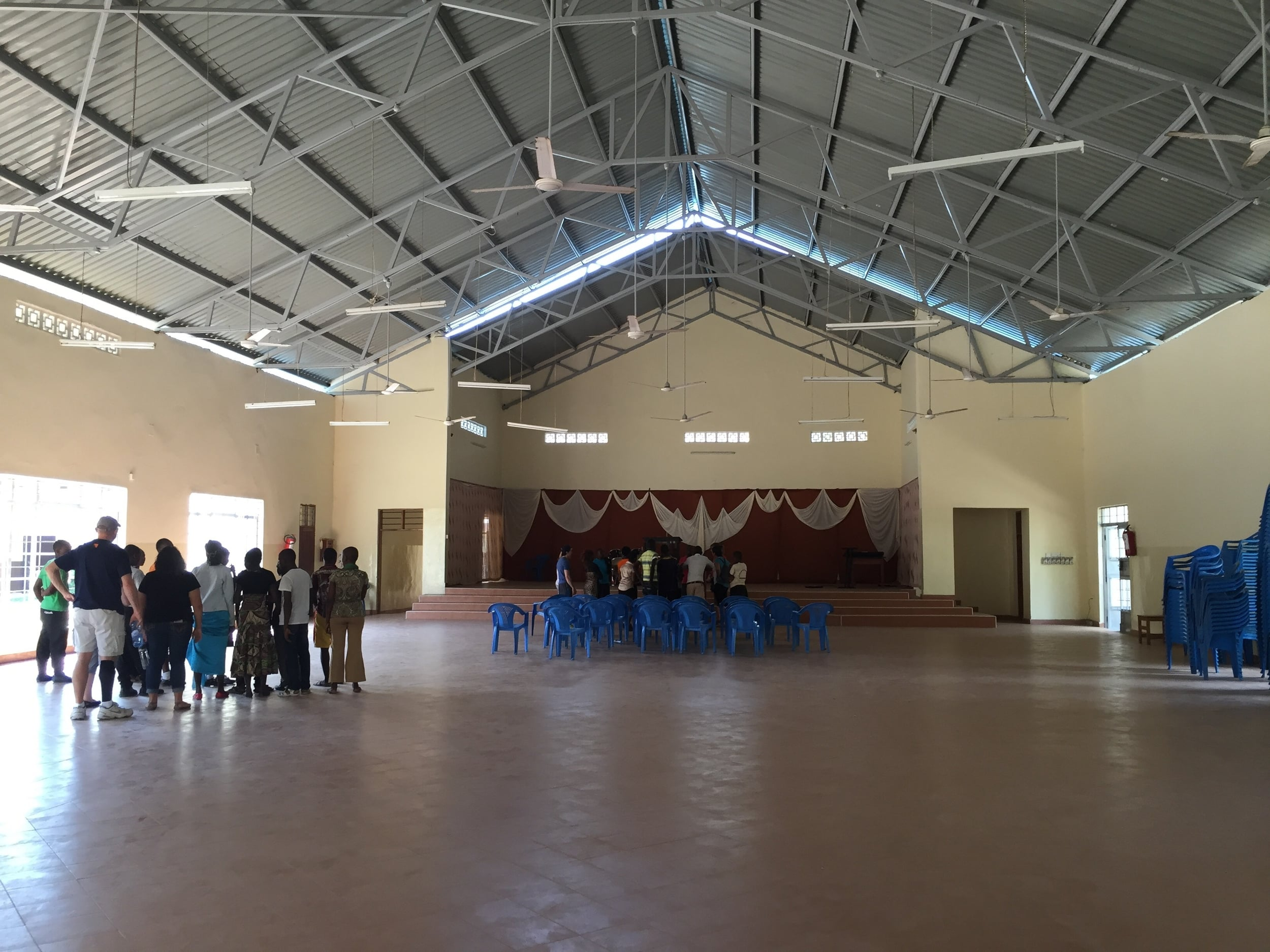 The high school has excellent facilities, including their large chapel that serves as a community church on Sundays.