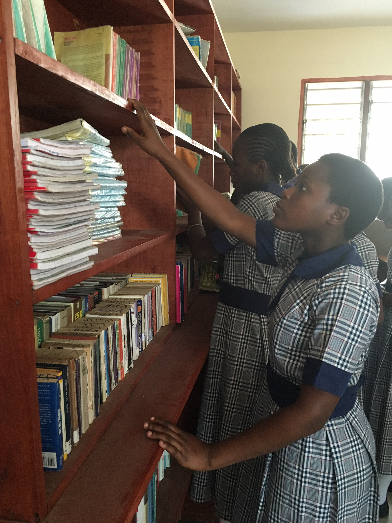 Checking out the school library