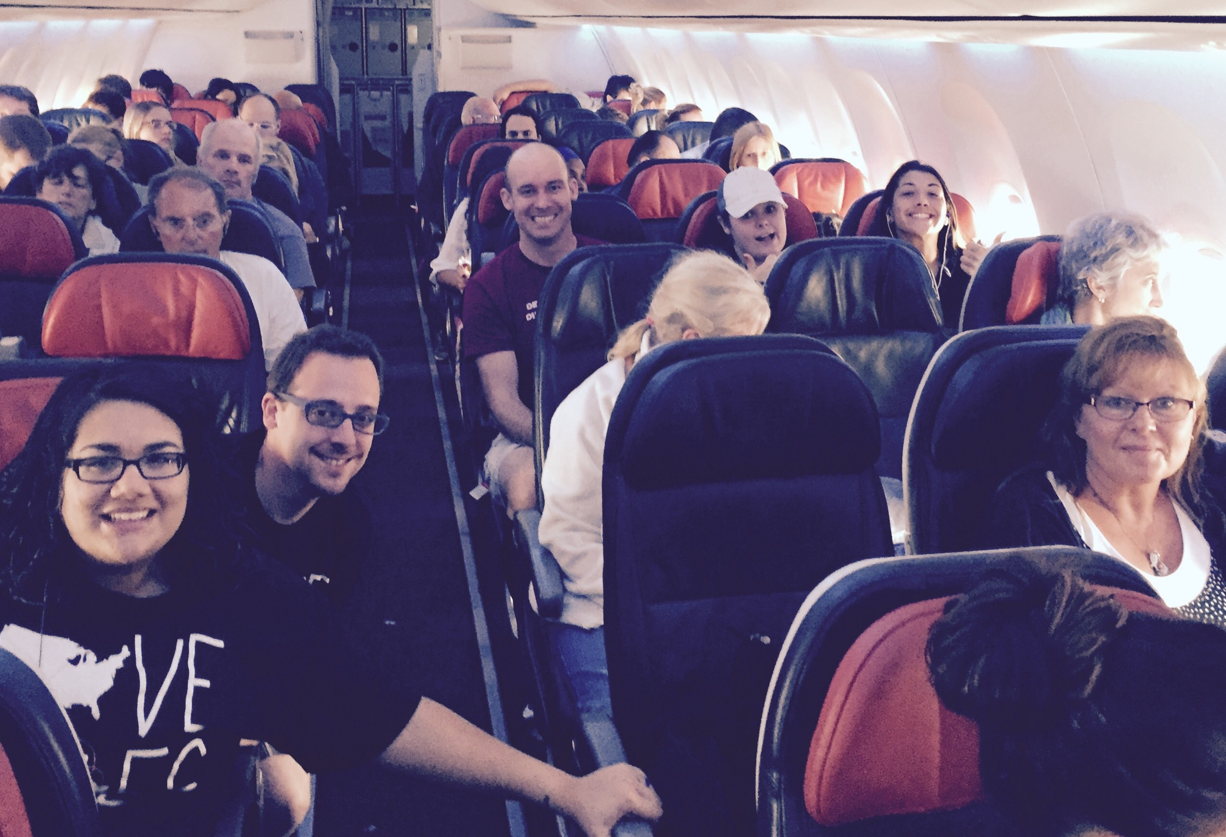 The team was pretty bright-eyed even after the first flight touched down in Turkey.