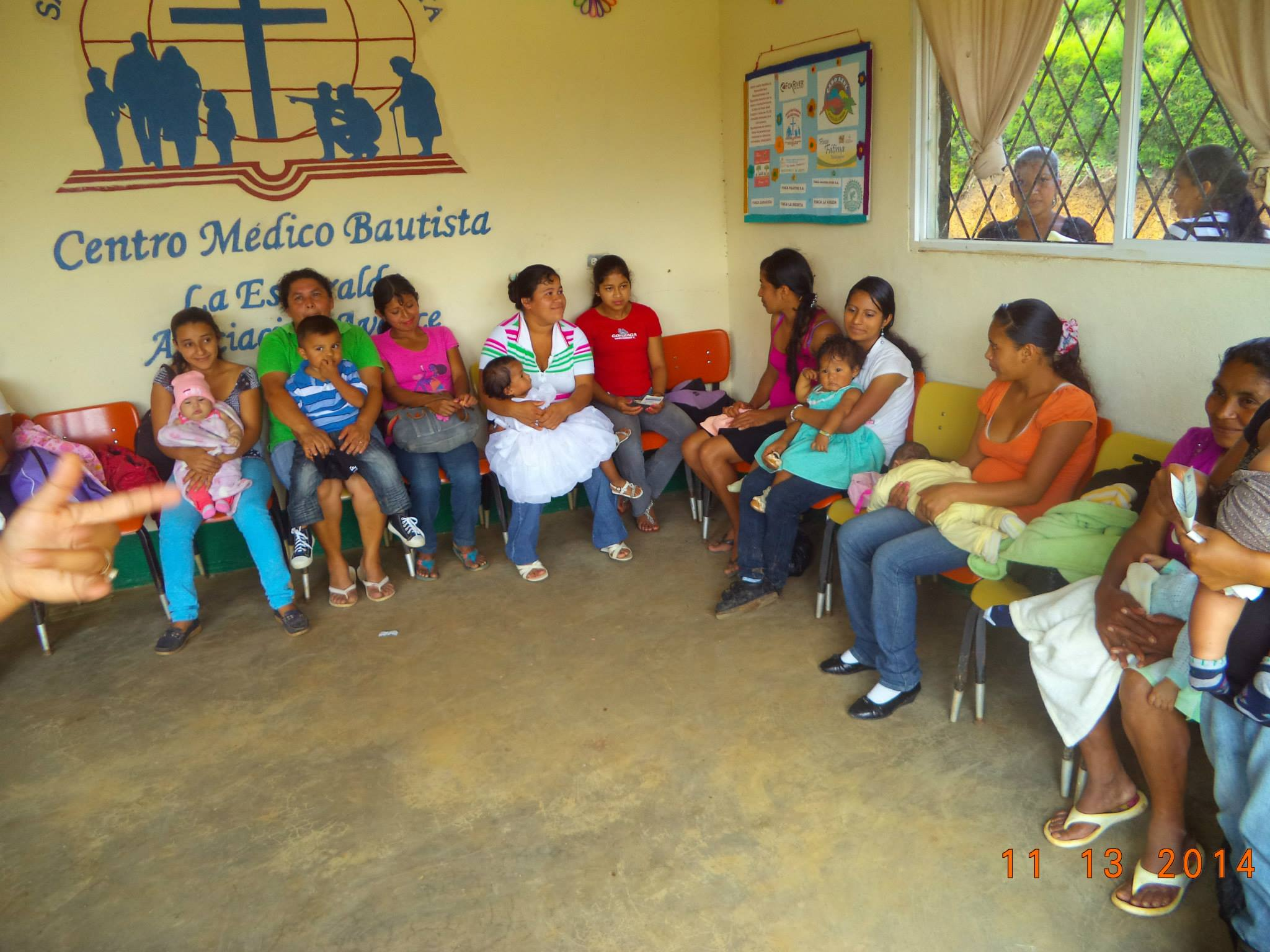 This picture is from the waiting room of the clinic in La Esmeralda, Nicaragua. Since the clinic opened in 2011, the doctor, nurse and pharmacist see 10,000 patient visits in a year. Fox River recently completed the addition of a house for the doctor. We also support the local church by sponsoring a community sports ministry and recently purchased land for a new church plant in Las Nubes.
