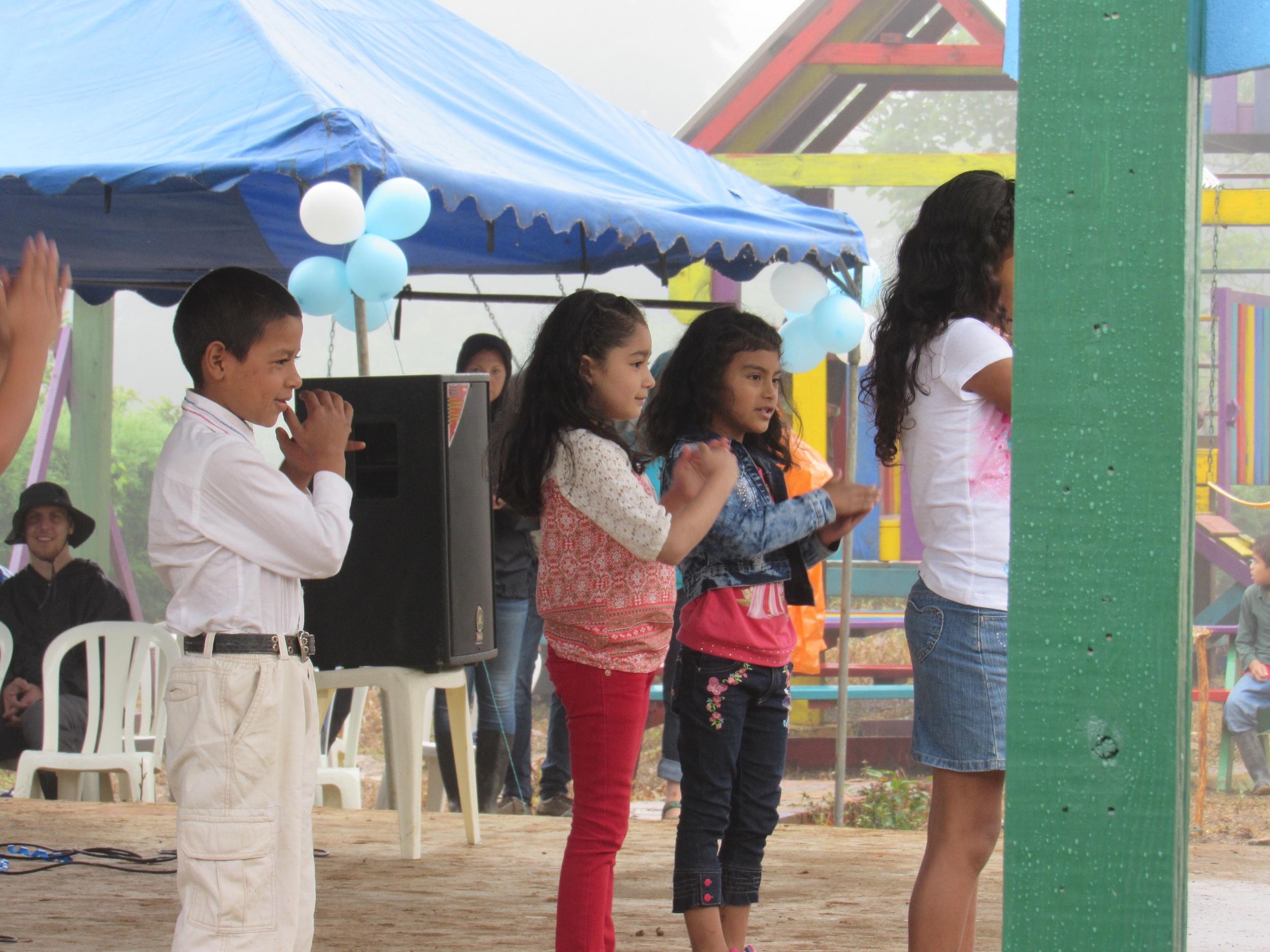 Children's presentation.