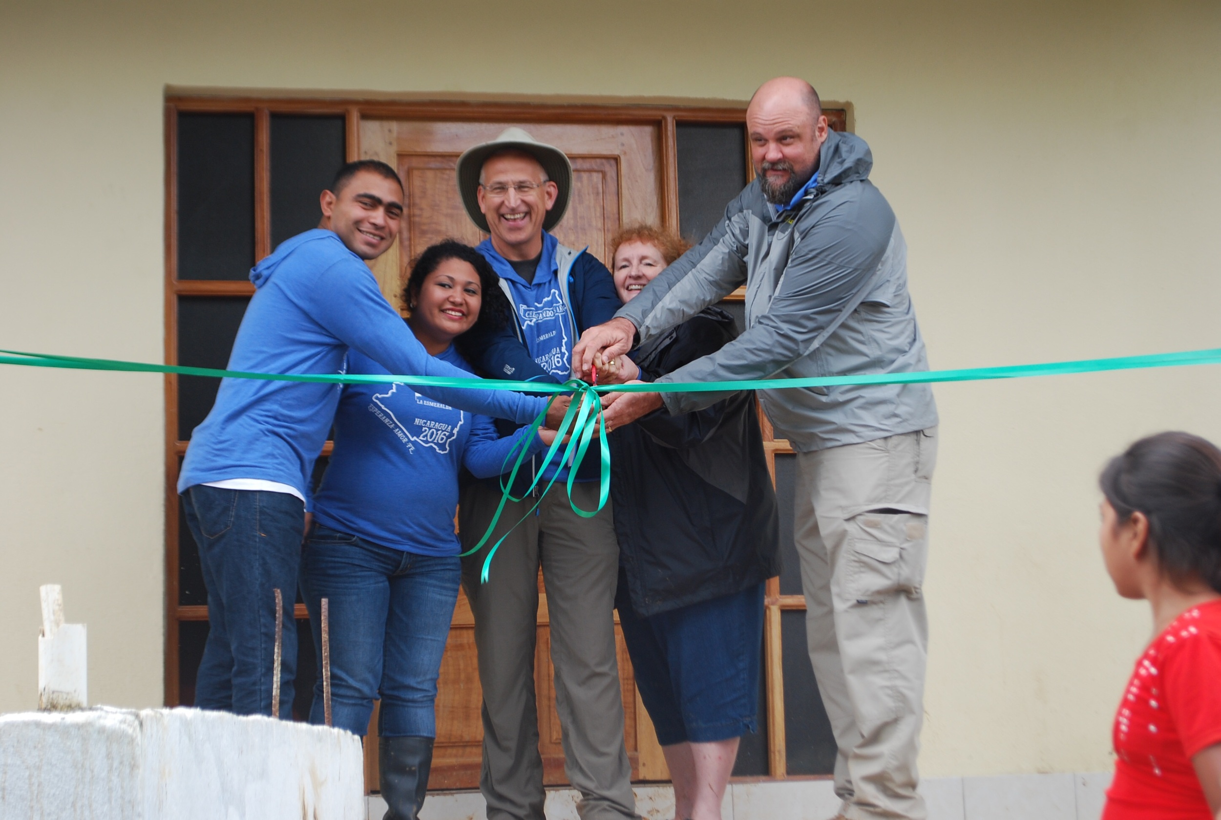 In the afternoon we dedicated the doctor's house with Pastor Denis, Karen and missionary Brian Weed.
