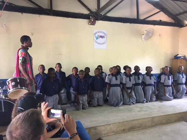 Class 7 during their recitation.