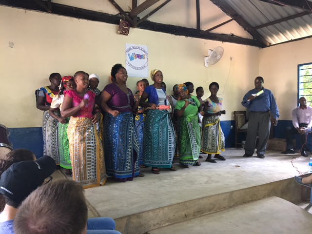 The Adult Literacy Class joined us to sing a traditional song.