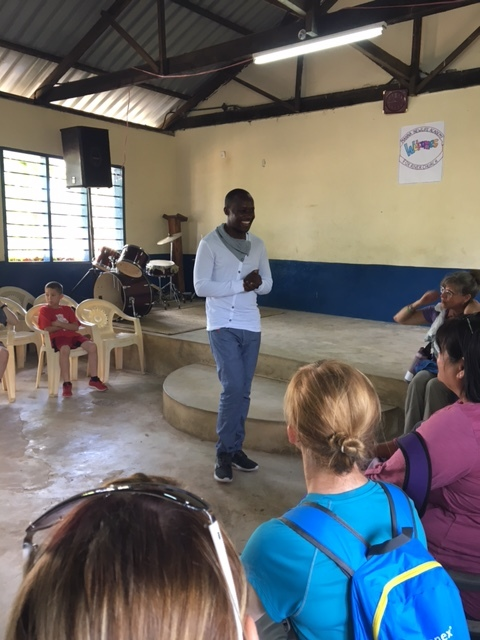 Pastor Allan shared the story of how God made a way for the center to be in Bomani.