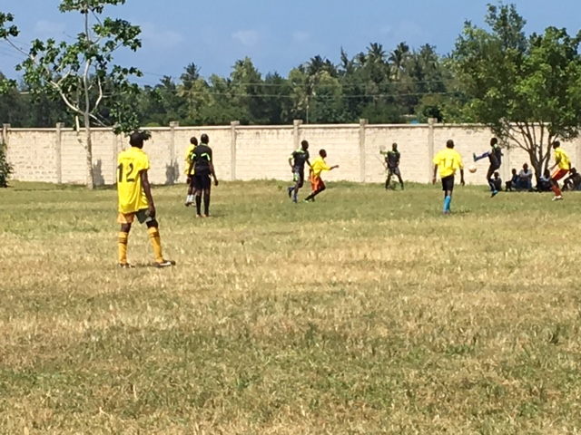 Soccer tournament. Competitive teams play in qualifying rounds for a month to achieve a spot in this day's tournament. The play is high level and fun to watch.