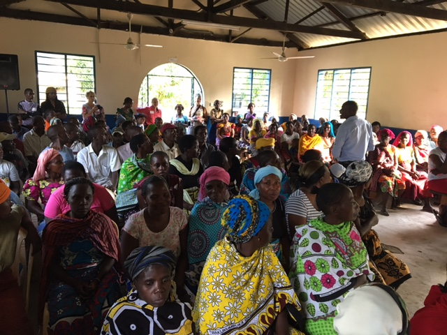 Parent meeting to hand out solar lamps