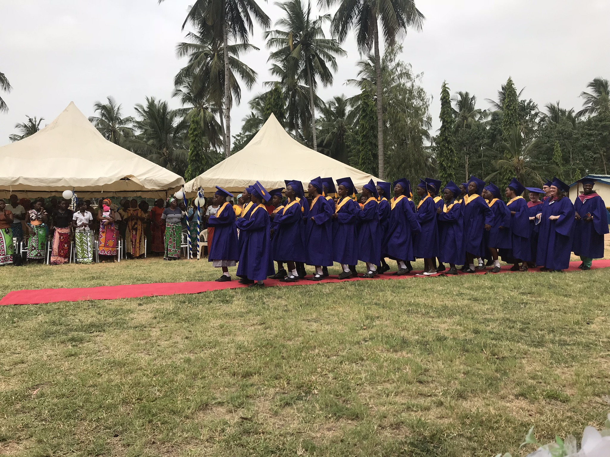 The processional. It is a slow rhythmic step that brought lots of laughter for the adults bringing up the rear!
