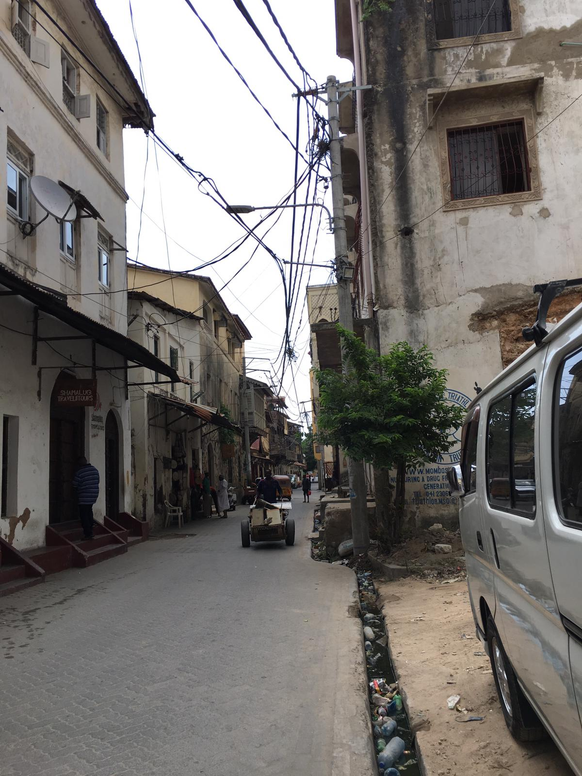 Streets of old town Mombasa