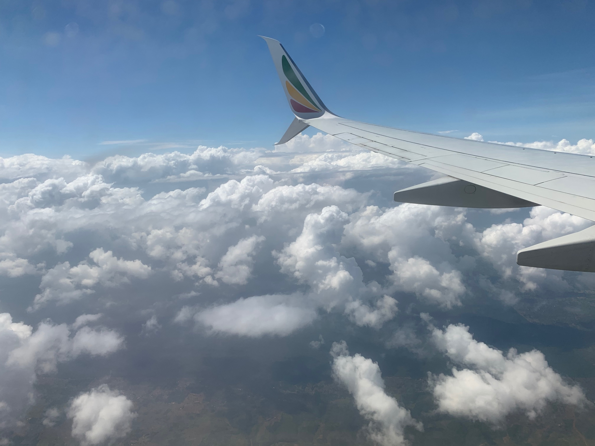 Beautiful views on our short flight from Ethiopia to Mombasa, Kenya