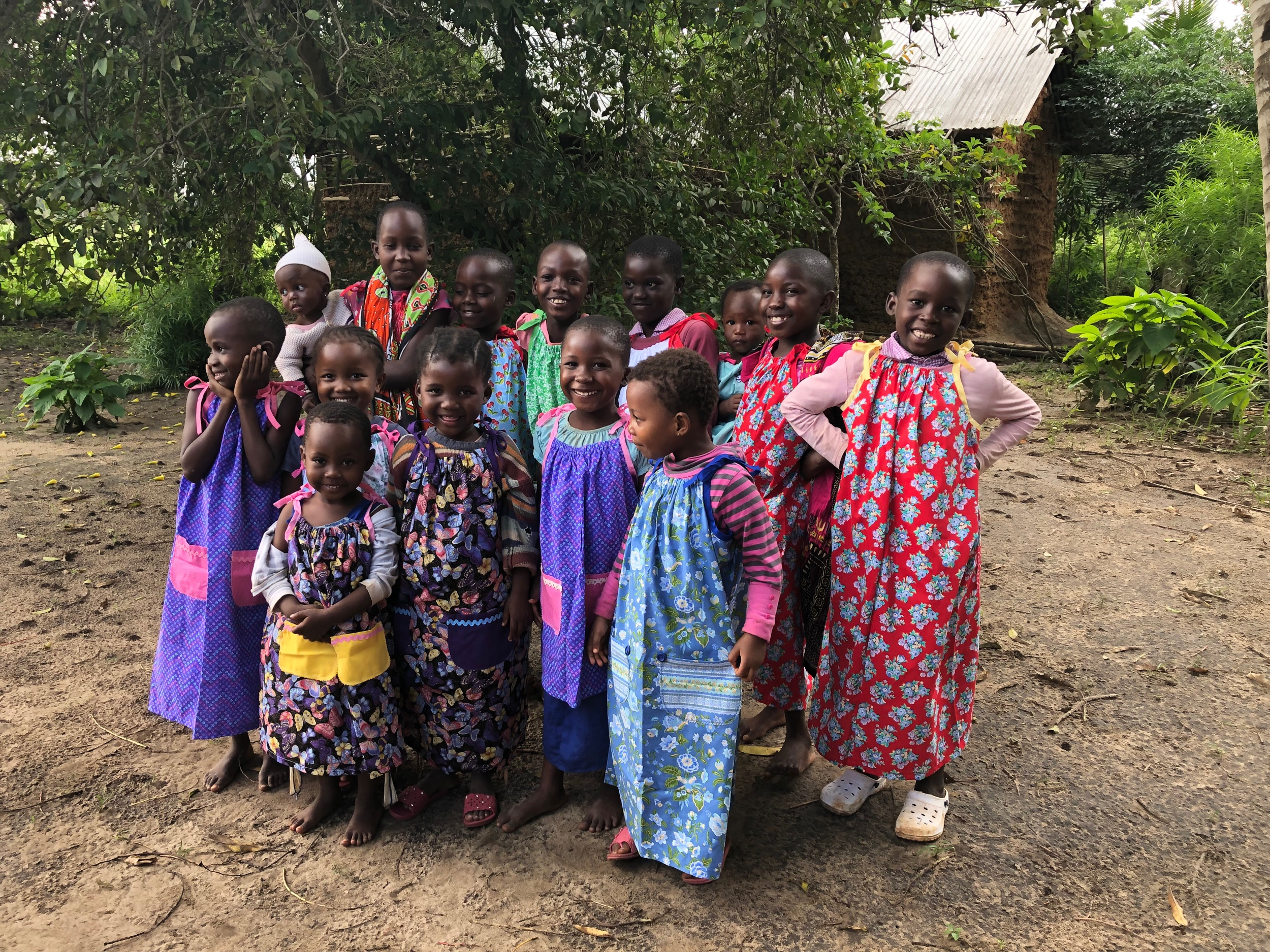 We were able to bless some little girls in the village with some dresses made by Pastor Mark's mom and one of the small groups at Fox River. They loved it!