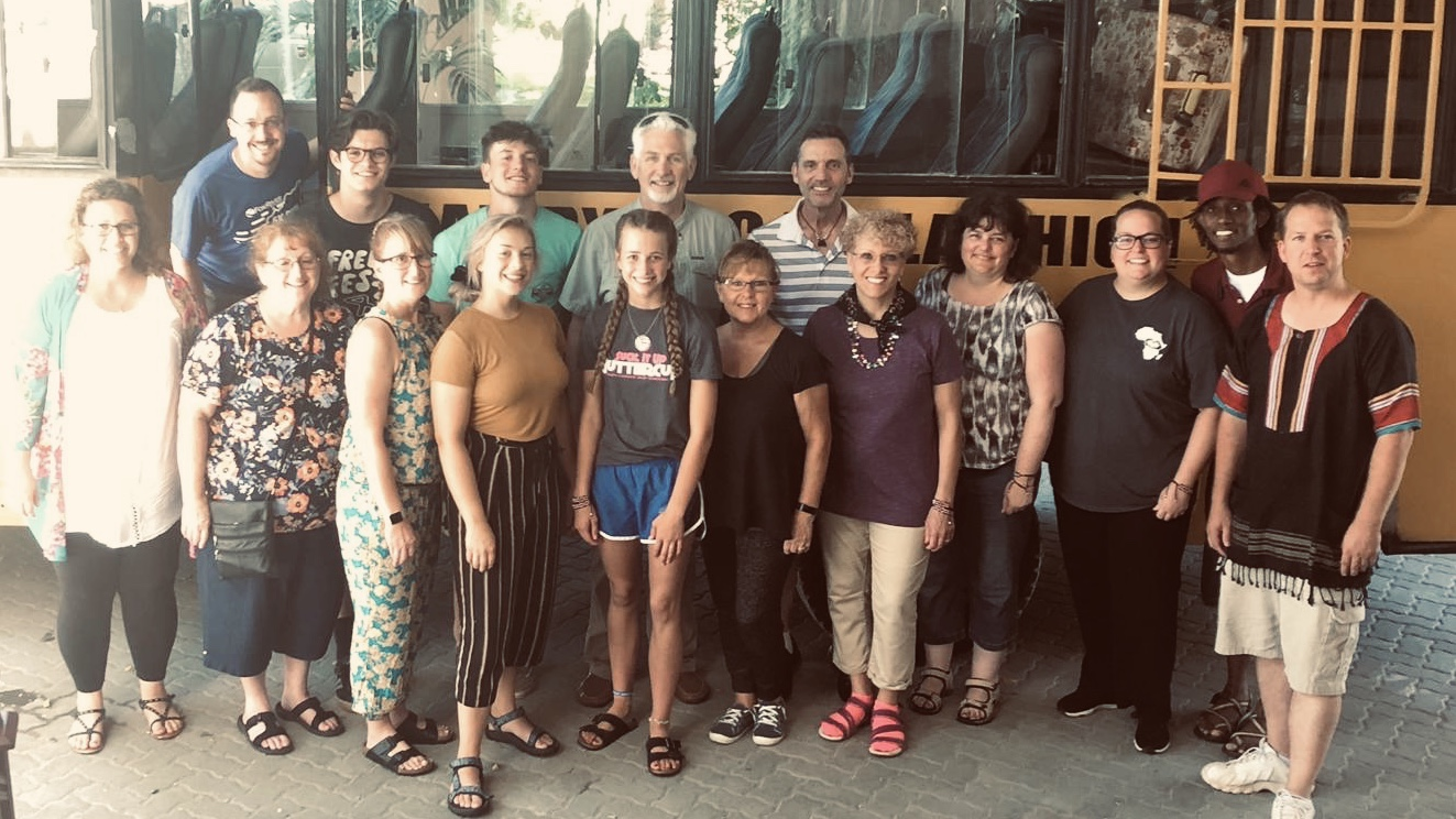 The 2019 Kenya Missions team with our missionary partners, Jenna & O'Neal