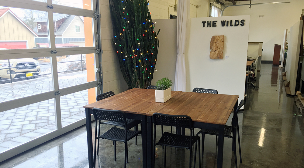 Our Community Space is about 500 square feet and can be rented furnished or unfurnished.