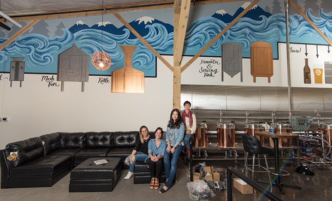 Immersion Brewing Mural, just before the brewery opened. *Photo by Charlie Thiel*