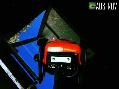 ROV Entering Confined Space of Fire Water Tank for Spectrum Fire Queensland.