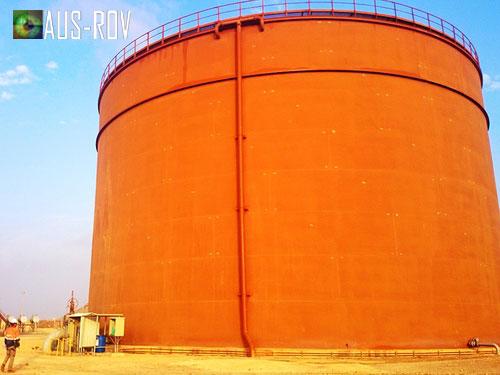 The 30m Diameter Fire Service Tank for Petromasila Oil Export Terminal.