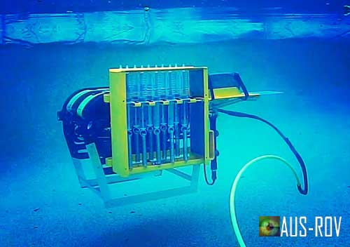 Underwater Remote Actuated Water Sampling Device Designed by AUS-ROV.