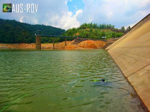 AUS-ROV and Gray Diving Services performing dam inspections in Borneo.