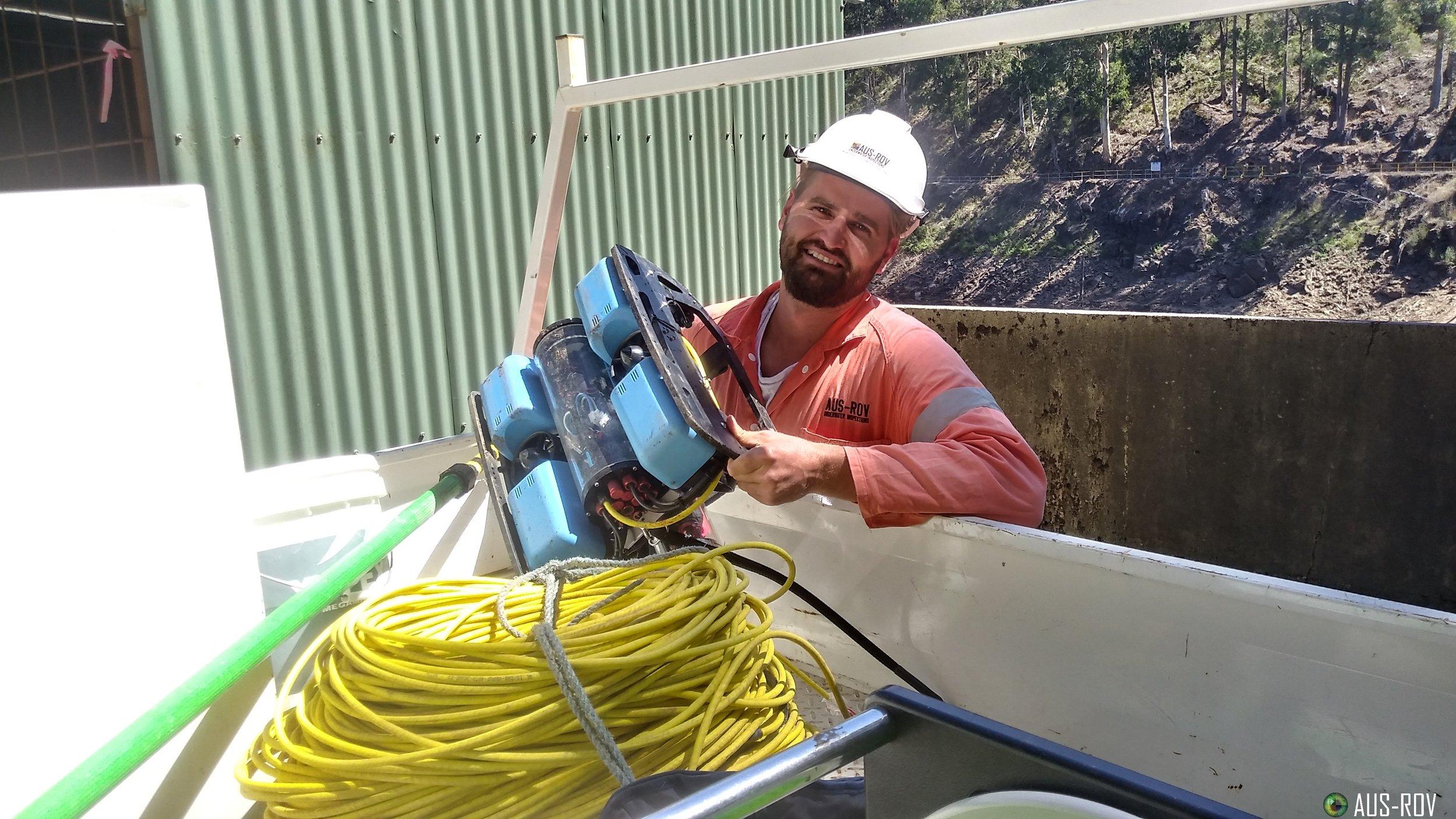 AGL Energy AUS-ROV ausrov underwater inspections ROV Retrieval