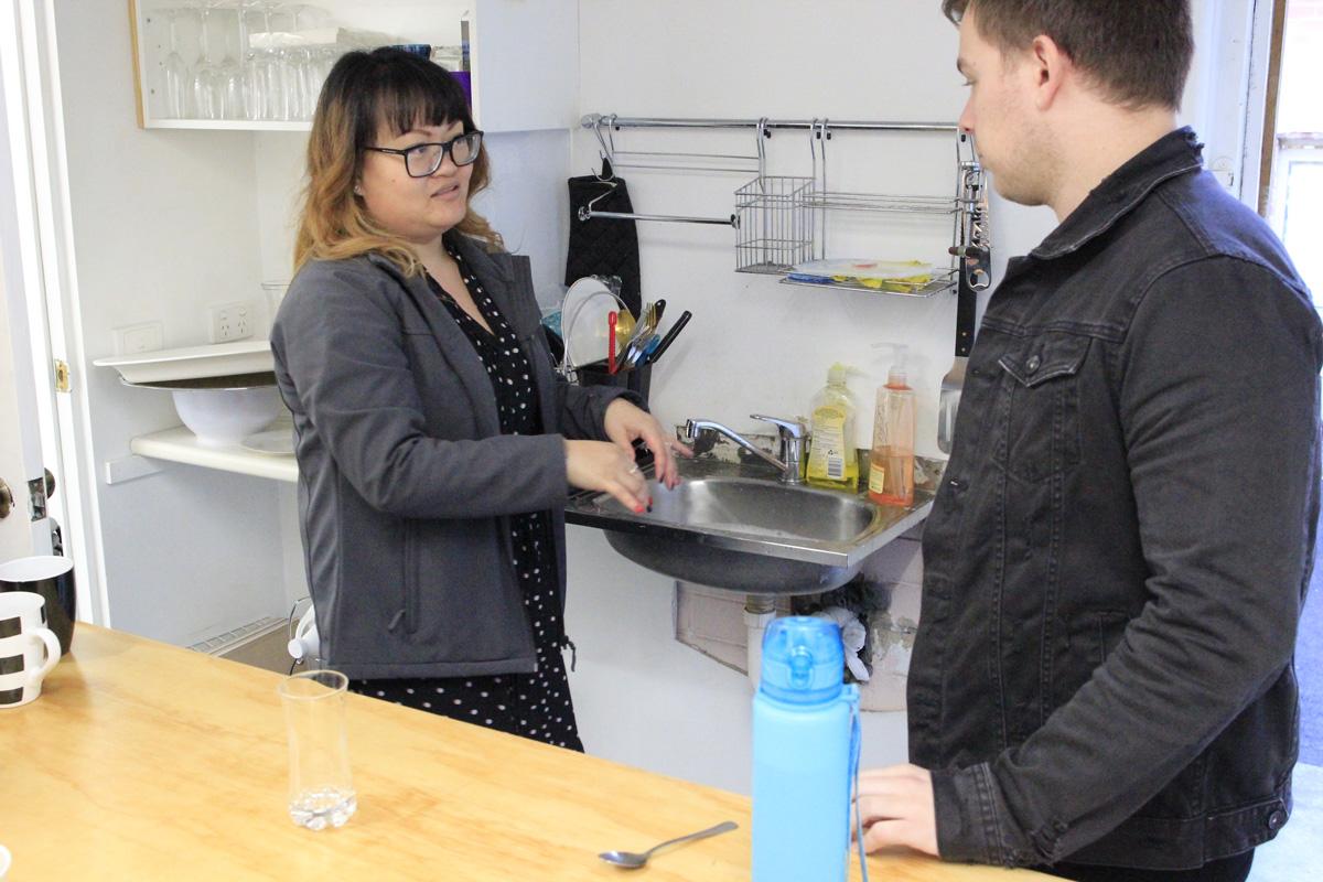 Kitchen - Kettle, fridge, microwave,cutlery and crockery, sink, tea and coffee