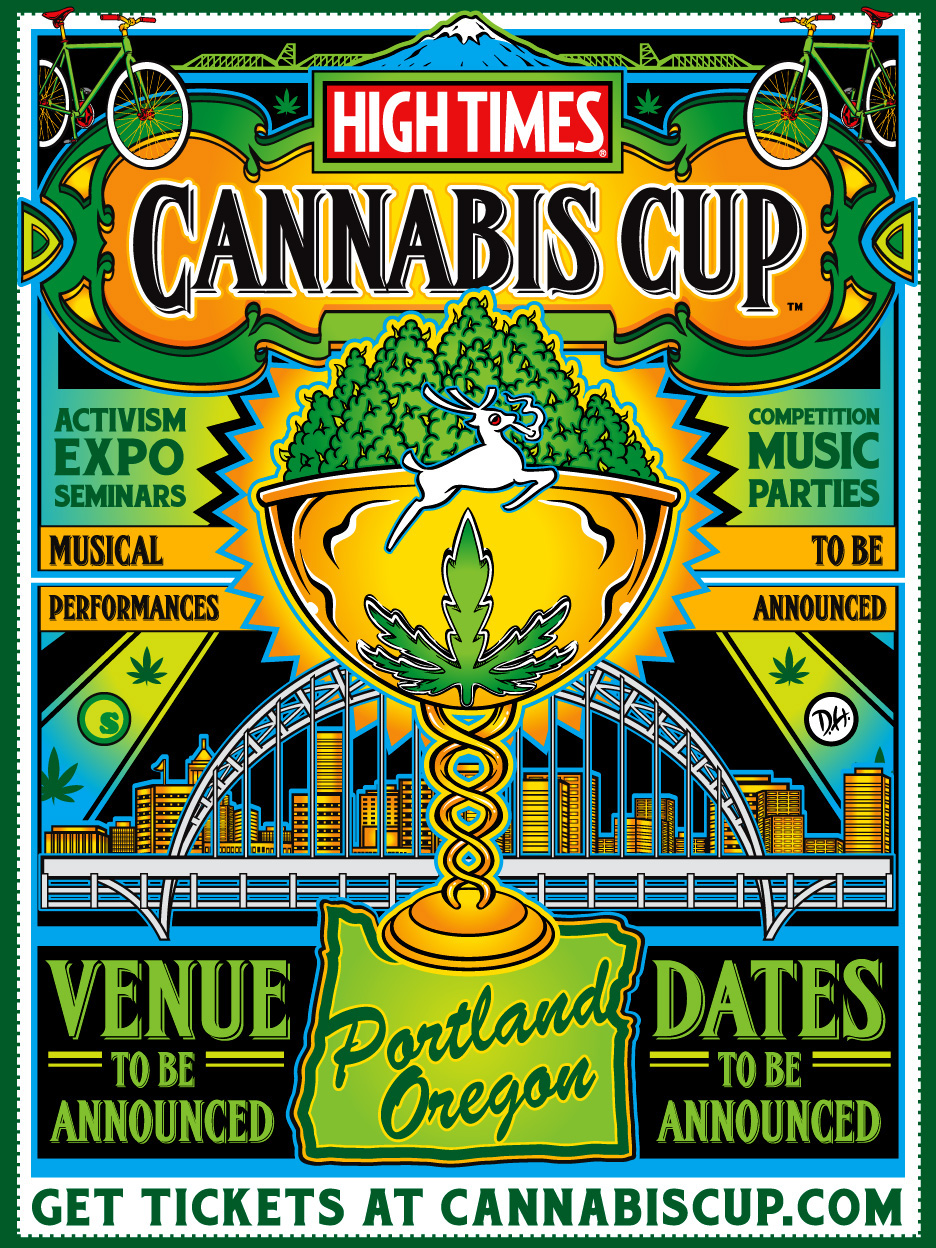 Portland's High Times Cannabis Cup 2015 Poster