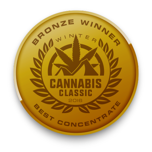 Bronze Winner for Best Concentrate at the NW Cannabis Classic 2016